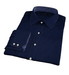 Canclini Navy Casual Diamond Jacquard Men's Dress Shirt