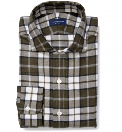Canclini Pine Plaid Beacon Flannel Fitted Shirt