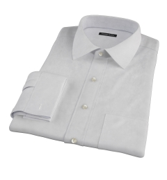 Bowery Light Grey Pinpoint Custom Dress Shirt