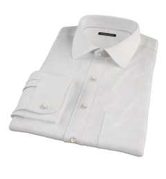 Lavender Stripe Twill Fitted Dress Shirt