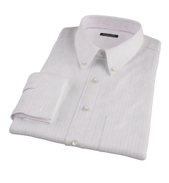 Pink University Stripe Heavy Oxford Fitted Dress Shirt