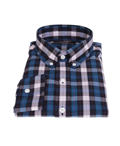 Crosby Blue Plaid Men's Dress Shirt