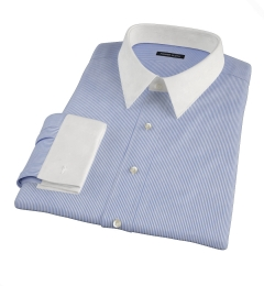 Carmine Dark Blue Pencil Stripe Fitted Shirt