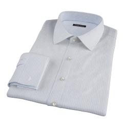 Canclini Blue Multi Stripe Fitted Dress Shirt