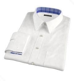 120s White Royal Herringbone Custom Made Shirt