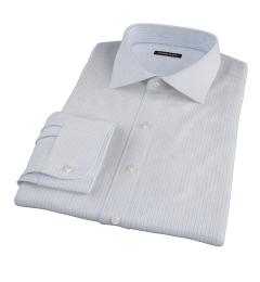 Canclini Blue Multi Stripe Fitted Shirt