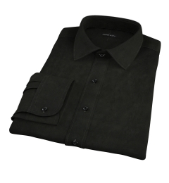 Black Broadcloth Fitted Shirt