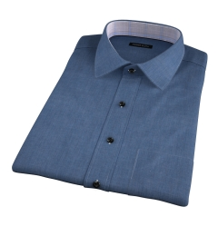 Bleecker Slate Blue Melange Short Sleeve Shirt