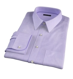 Genova 100s Lilac End-on-End Tailor Made Shirt