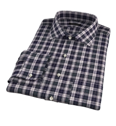 Japanese Green Donegal Tartan Dress Shirt