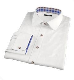 Canclini White Luxury Seersucker Men's Dress Shirt