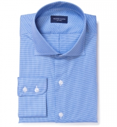 Morris Blue Wrinkle-Resistant Houndstooth Dress Shirt