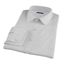 Canclini Grey Donegal Flannel Custom Dress Shirt