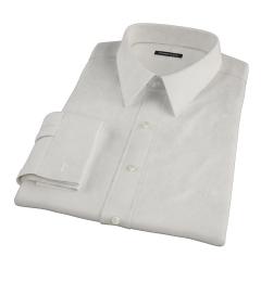 100s Khaki Stripe Men's Dress Shirt