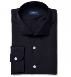 Black 80s Broadcloth Tailor Made Shirt
