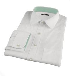 White Cavalry Twill Herringbone Dress Shirt