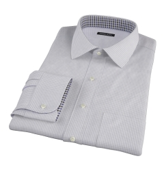 Canclini Grey Mini Gingham Men's Dress Shirt
