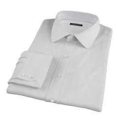 Canclini White Imperial Basketweave Men's Dress Shirt
