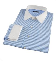 Canclini Royal Blue Medium Grid Fitted Shirt
