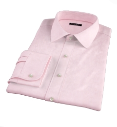 Pink Wrinkle-Resistant Cavalry Twill Fitted Shirt