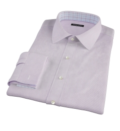 Canclini Purple Fine Stripe Dress Shirt