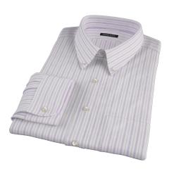 Canclini 120s Lavender Multi Stripe Tailor Made Shirt