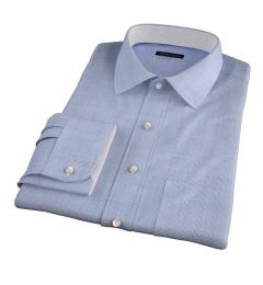 Carmine Grey Glen Plaid Custom Made Shirt