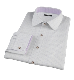 Mercer Blue Twill Check Fitted Shirt
