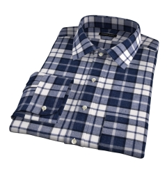 Canclini Slate Plaid Beacon Flannel Men's Dress Shirt
