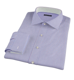 Red and Blue Regis Check Men's Dress Shirt