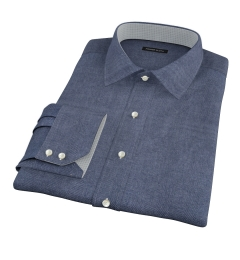 Whitney Charcoal Flannel Fitted Shirt