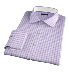 Essex Lavender Multi Check Fitted Shirt