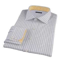 Canclini Grey Gingham Men's Dress Shirt