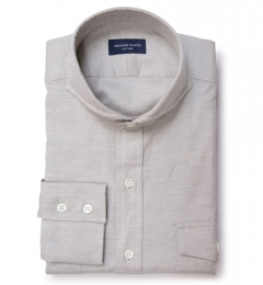 Light Grey Herringbone Flannel Custom Made Shirt