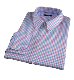 Thomas Mason Hibiscus Multi Check Men's Dress Shirt