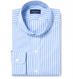 Canclini 120s Light Blue Reverse Bengal Stripe Dress Shirt