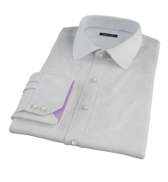 Lavender and Black Fine Satin Stripe Tailor Made Shirt