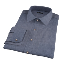 Crosby Black Denim Fitted Dress Shirt