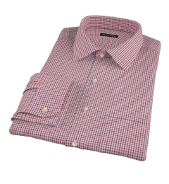 Canclini Red and Navy Multi Gingham Tailor Made Shirt