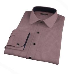 Dark Brown Teton Flannel Men's Dress Shirt
