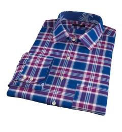 Warren Blue Large Plaid Custom Dress Shirt