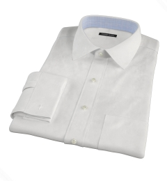 White Cavalry Twill Herringbone Tailor Made Shirt