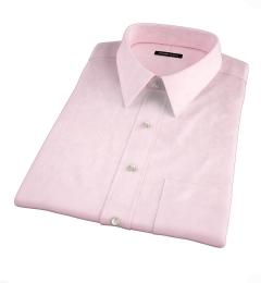 Thomas Mason Pink Pinpoint Short Sleeve Shirt