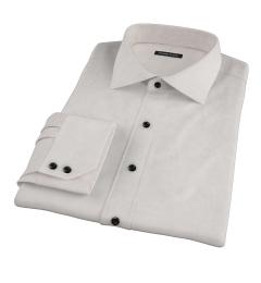 Light Grey Herringbone Flannel Custom Dress Shirt