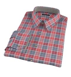 Rust Dock Street Flannel Dress Shirt
