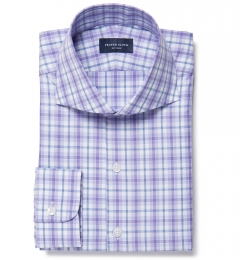 Siena Lavender Multi Check Custom Dress Shirt