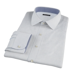 Mercer Light Blue Medium Grid Dress Shirt