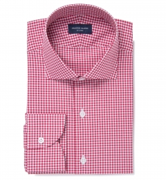 Melrose 120s Red Mini Gingham Dress Shirt
