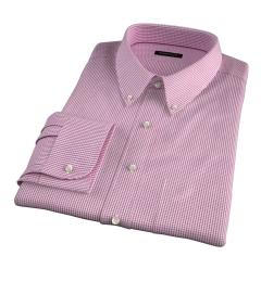 Carmine Crimson Small Grid Dress Shirt
