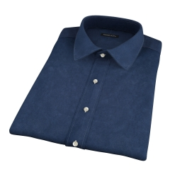 Dark Navy Heavy Oxford Short Sleeve Shirt